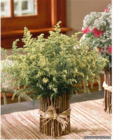 Twig Vases as Wedding Centerpieces