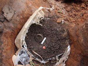 Urnas encontradas em Combinado são de povos indígenas antigos (Foto: Divulgação/Iphan)