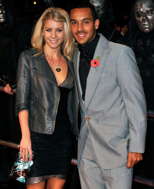 Arsenal footballer Theo Walcott and his wife Melanie Slade