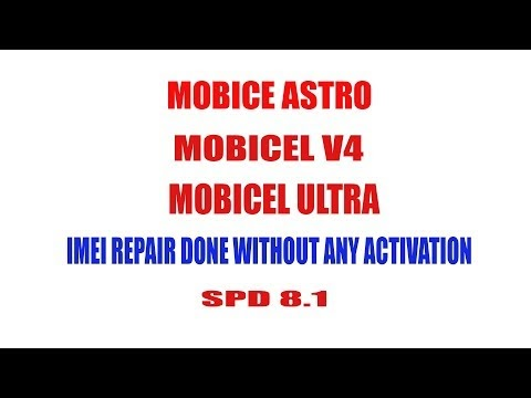 Hurrican Firmwares: MOBICEL ASTRO ULTRA X4 V4 IMEI REPAIR DONE