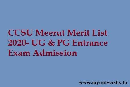 CCSU Merit List 2020