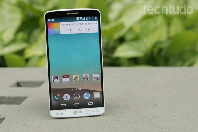 O LG G3 é o smartphone top de linha da companhia  (Foto: Foto: Lucas Mendes/TechTudo)