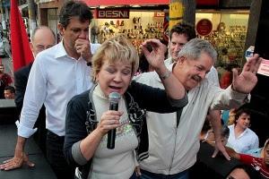 Em 2012, Haddad contou com Lula e com a então ministra da Cultura petista Marta Suplicy em sua campanha