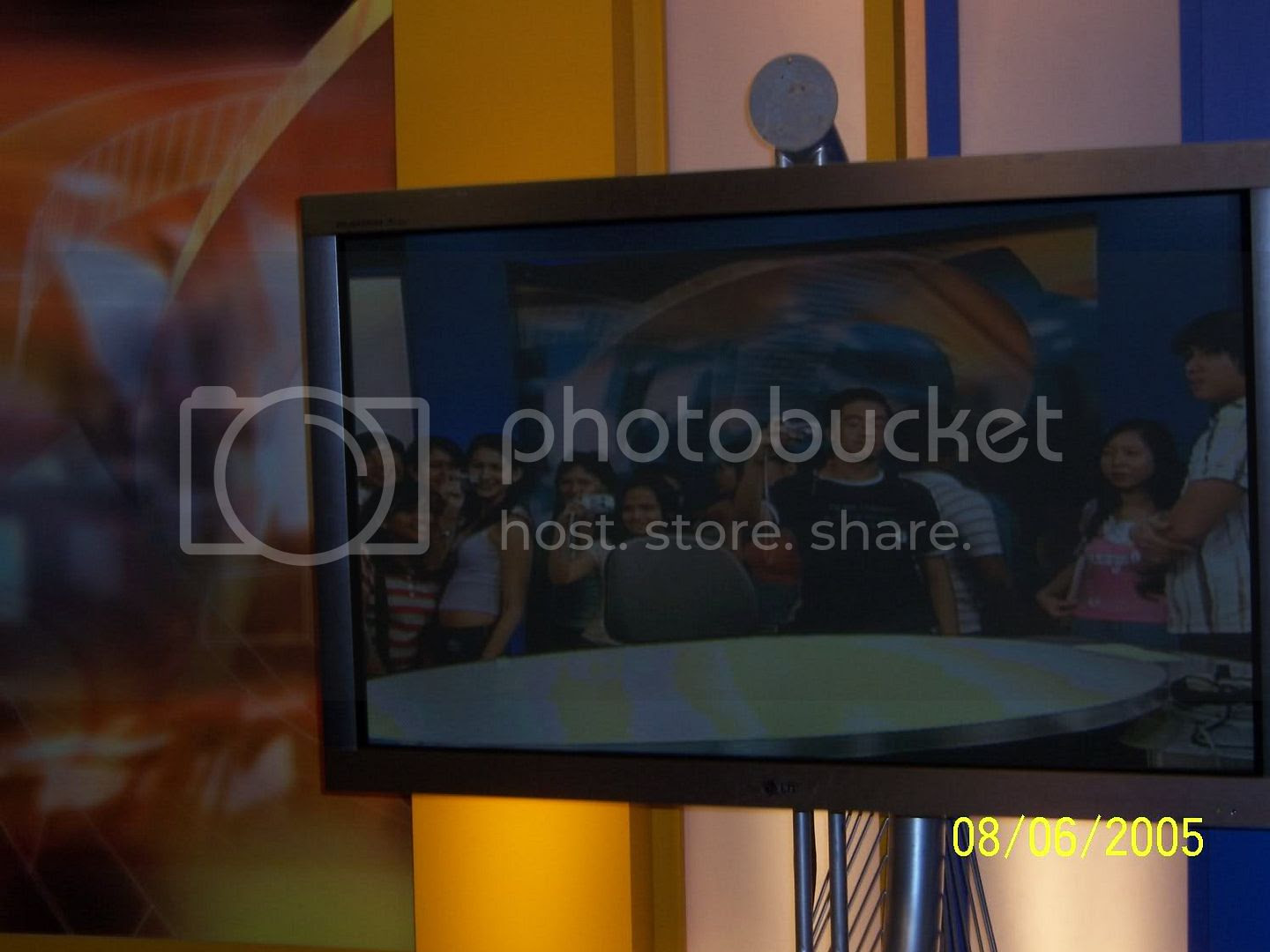 Me at the ANC set, almost seen on the television. This shot just looks nice. Image hosted by Photobucket