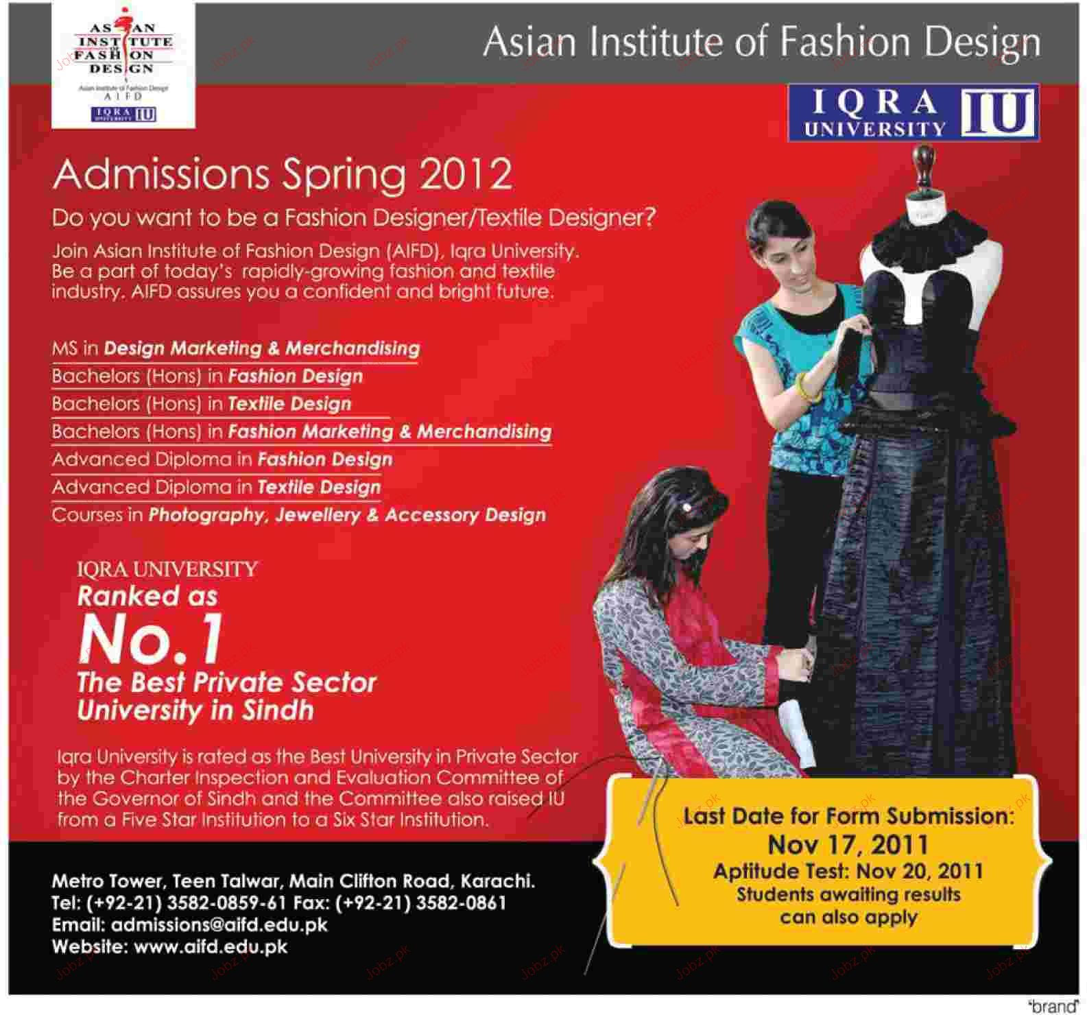 Lahore School Of Fashion Design Admission 2018 School Style