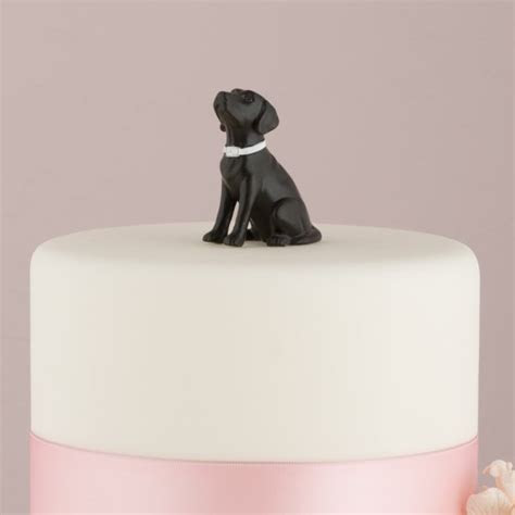 Labrador Dog Cake Topper Figurine (Black or Brown)