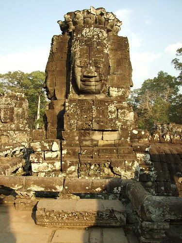 One of the carved face in Bayon Temple