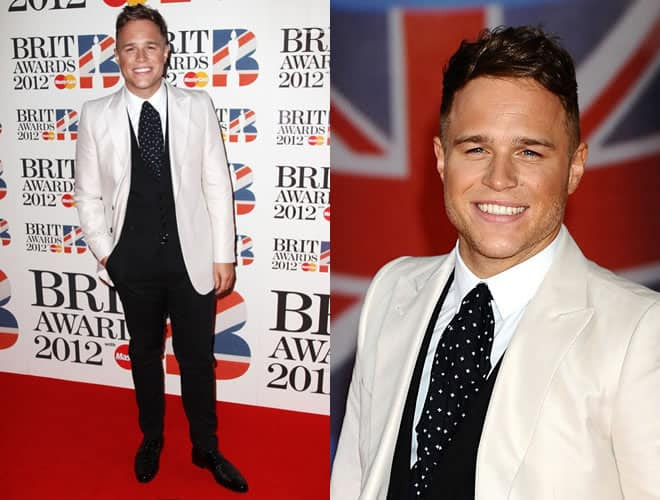 Olly Murrs Brit Awards 2012 Red Carpet