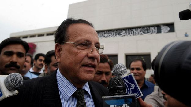 This file photo taken on 28 March 2009 shows governor of Pakistan's Punjab Province Salman Taseer speaking to the media after a national assembly session in Islamabad.