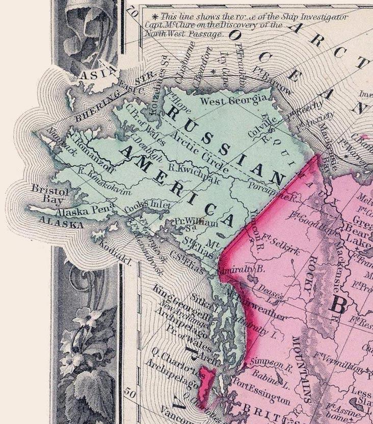 Map of Russian America