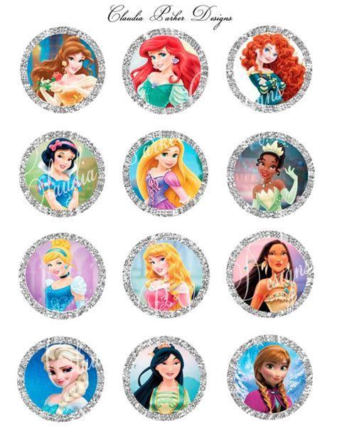 Disney Princess cupcake toppers Disney Princess 2 inch