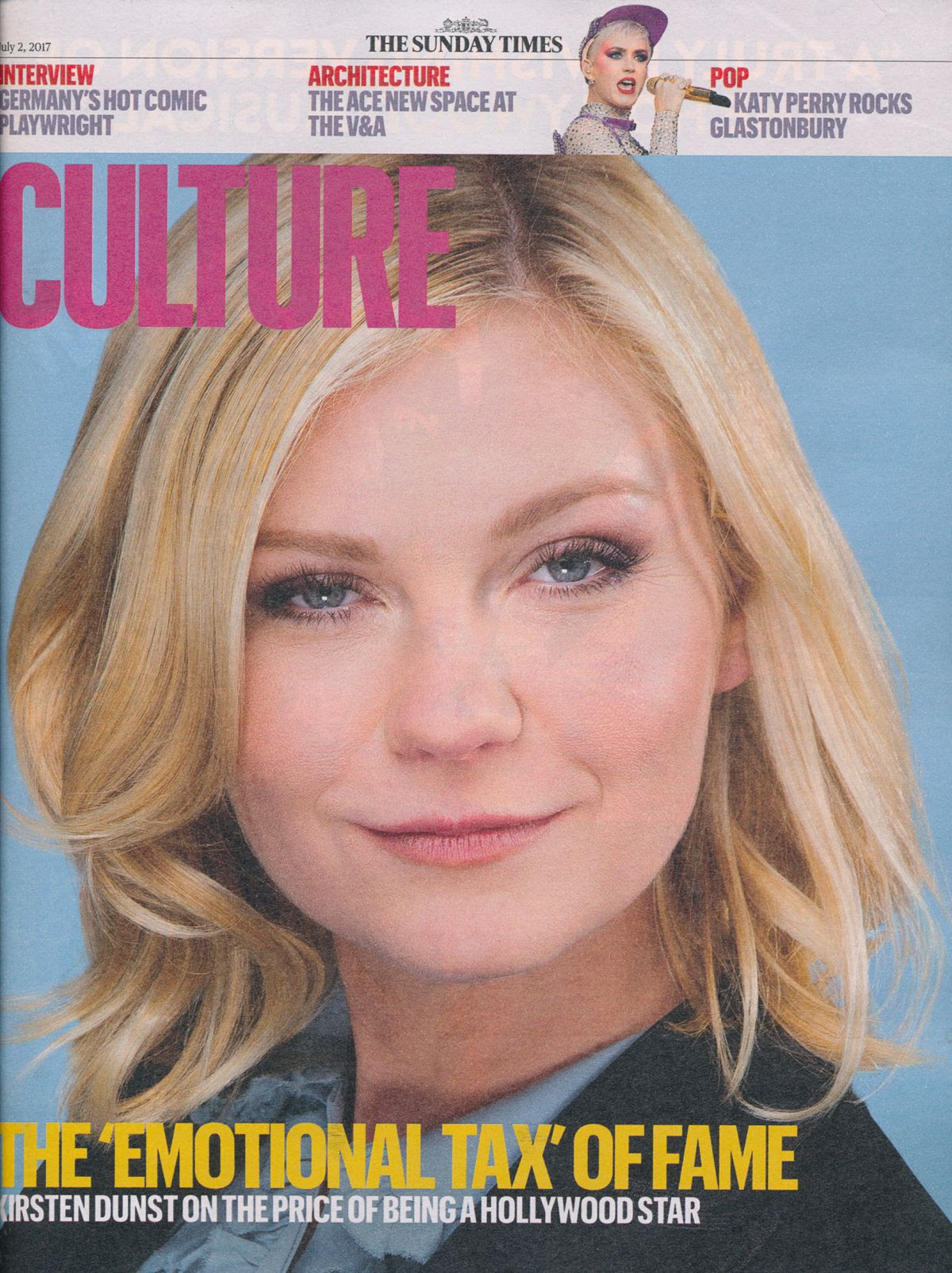KIRSTEN DUNST in Culture Magazine, July 2017