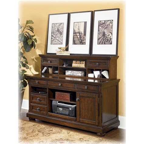 ashley furniture porter home office short desk hutch