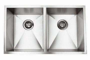 Undermount 32 Double Bowl Rectangle Stainless Steel Sink Jade