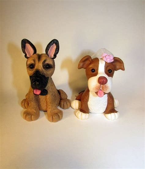 Custom Cake Topper, Dog, Pet, Pitbull, German Sheperd, Mix