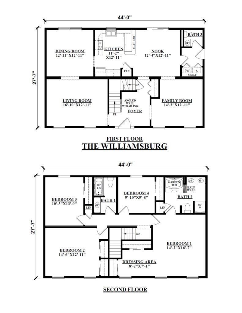 Two Story Modular Floor Plans Kintner Modular Homes Inc