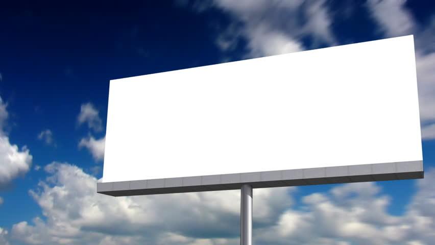 Blank Billboard. Looping Clouds Stock Footage Video 287128 ...