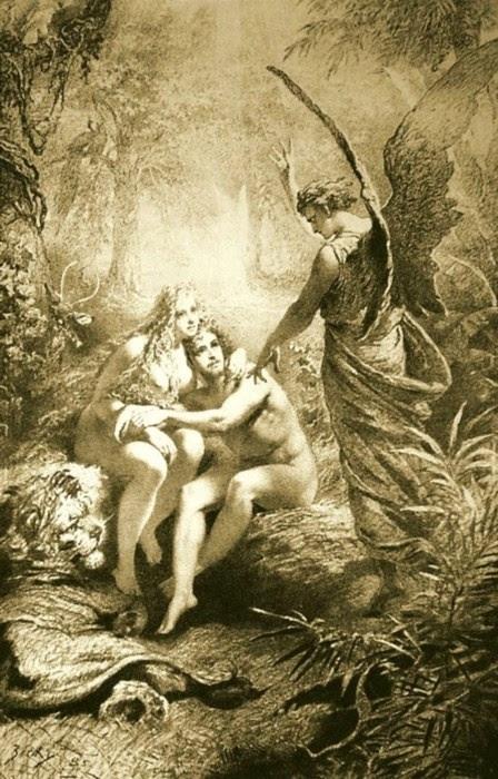 Adam Eva  1861  Mihaly Zichy