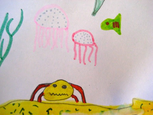 crabby and the jellyfish