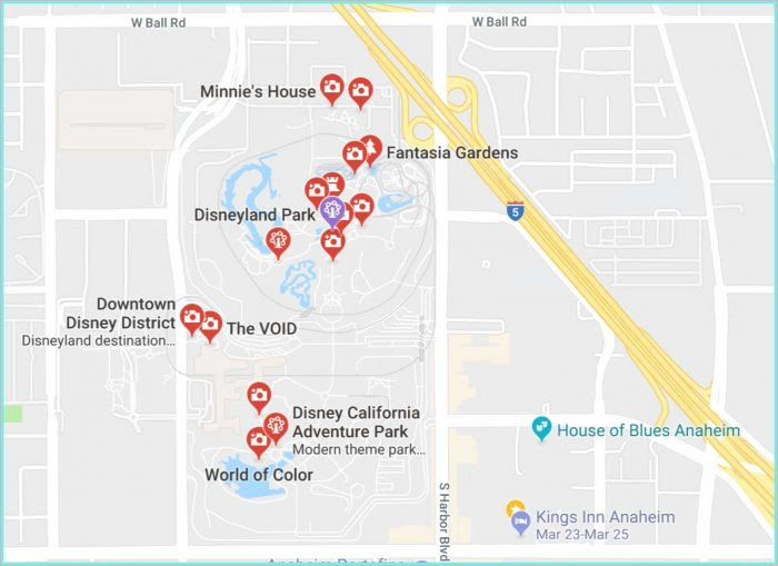Anaheim California Hotel Map Map Resume Examples