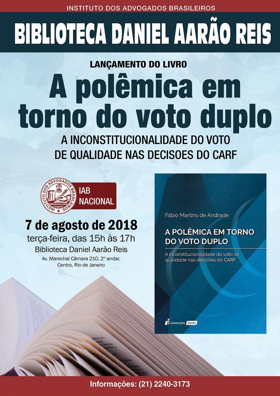 Lançamento do livro A polêmica em torno do voto duplo