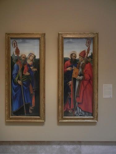 DSCN7691 _ Saints Benedict and Apollonia, c. 1483 & Saints Paul and Frediano, c. 1483, Filippino Lippi (1457-1504), Norton Simon Museum, July 2013
