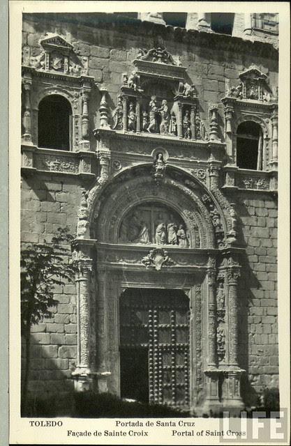 Museo de Santa Cruz (Toledo) a principios del siglo XX. Archivo de la Revista Life