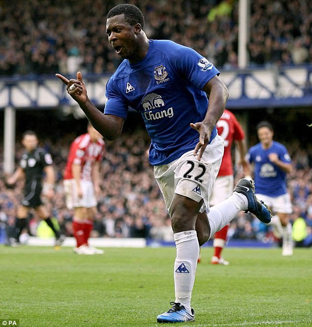 Yakubu became Everton's record signing at £11.25million in his heyday of 2007