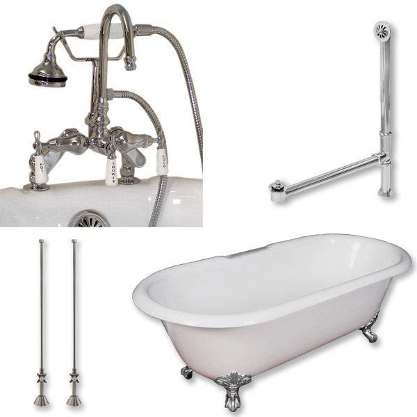 Cambridge Plumbing Cast Iron Double Ended Clawfoot Tub 67 By 30
