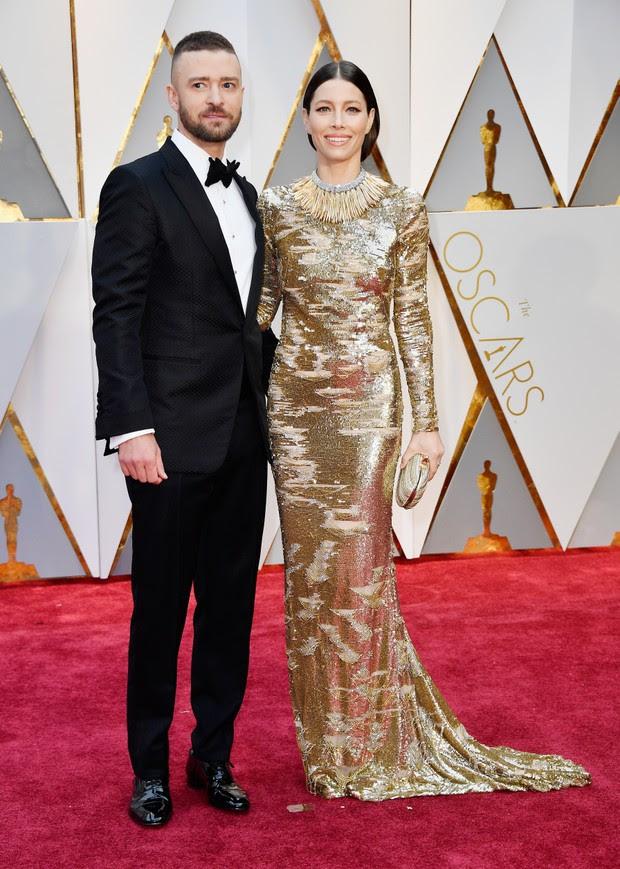 Justin Timberlake e Jessica Biel (Foto: AFP)