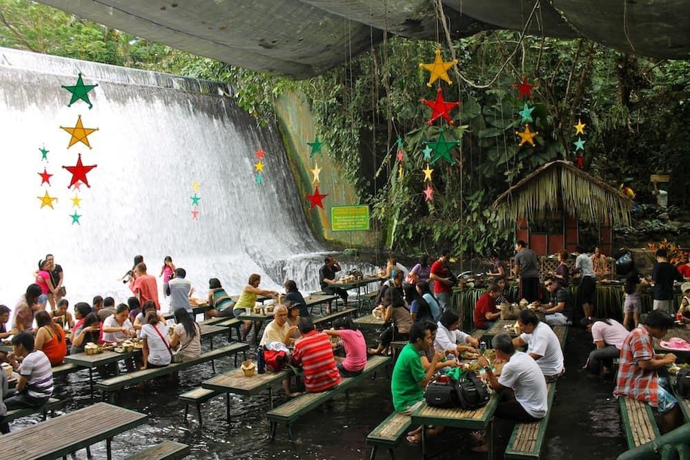 Waterfalls Restaurant in Villa Escudero 4