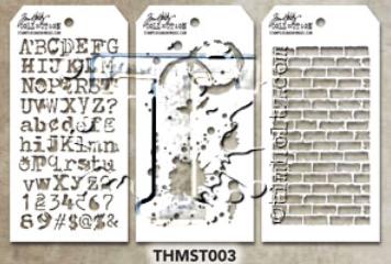 Tim Holtz Mini Layering Stencil - Set 3 (THS-Set 3)