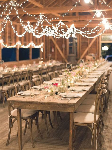 25 Chic Country Rustic Wedding Tablescapes   Deer Pearl