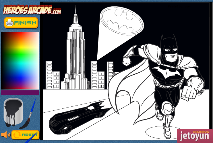 Batman Boyama 2 Oyunu Oyna Boyama Oyunları