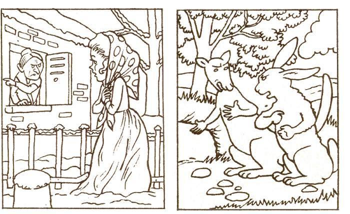 Fables De La Fontaine Jeu Coloriage La Cigale Et La Fourmi Le