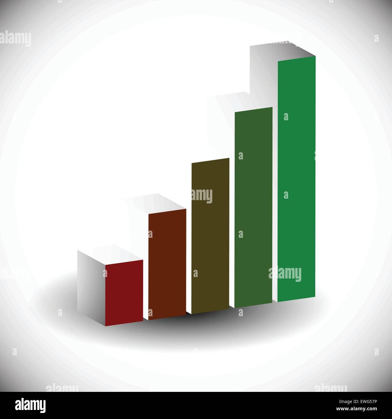 3d Bar Chart, Bar Graph Element. Editable Vector Graphics Stock ...