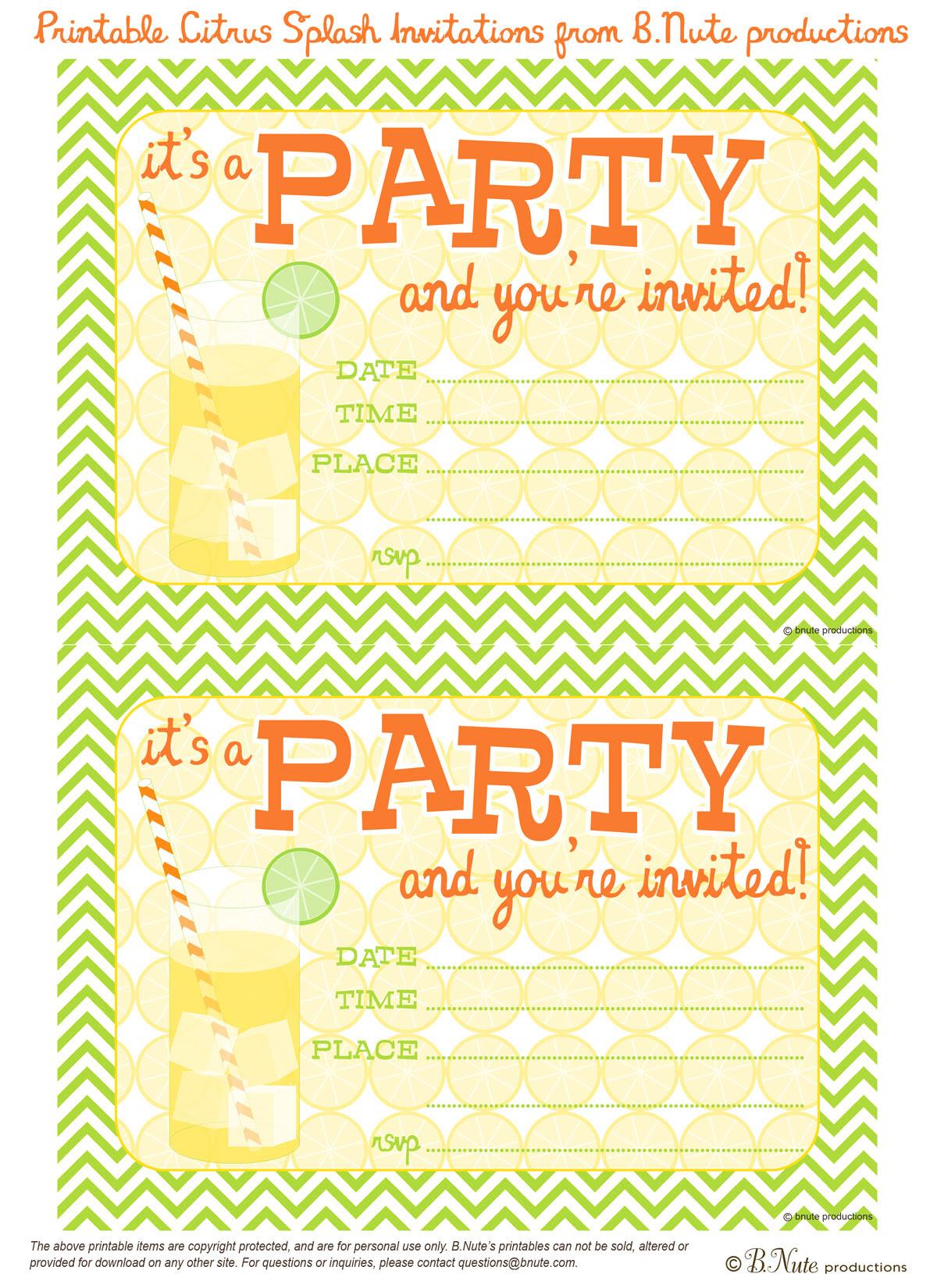 31+ Birthday Party Invitation Templates - Sample