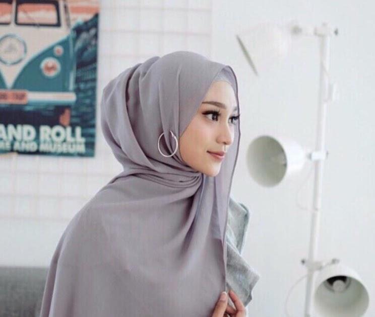 Cara Memakai Hijab Pashmina Diamond Simple Hijabfest