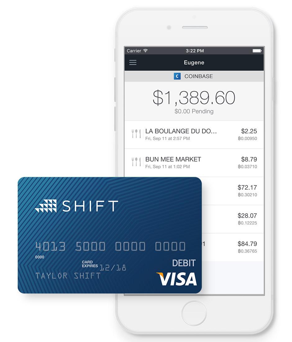 Coinbase bitcoin visa card