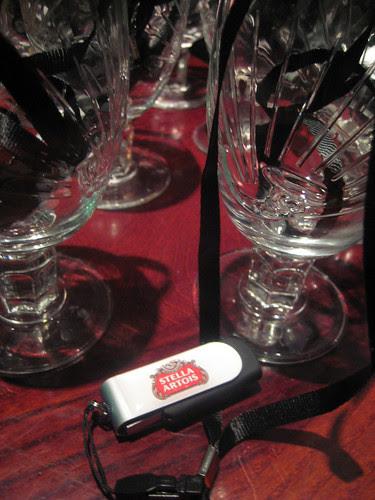Stella glasses and USB key