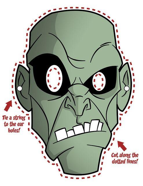 printable mask   Zombies   Pinterest   Printable masks and Masks