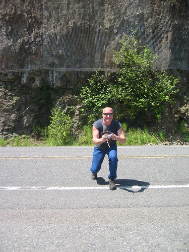 The nice motorcyclist who took a pic of Susan and me at Cape Horn