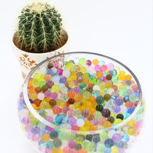500 pcs/ 5 bag Crystal soil potted multi color magic jelly wedding