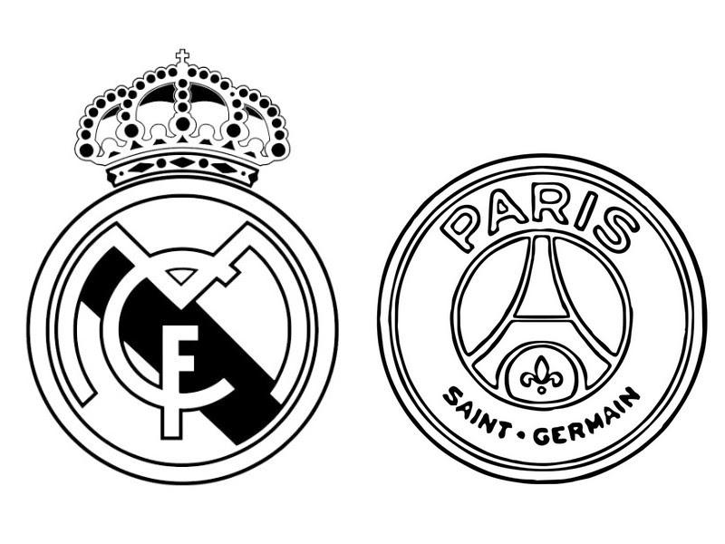 Coloring Page Uefa Champions League 2018 Real Madrid Cf V Paris