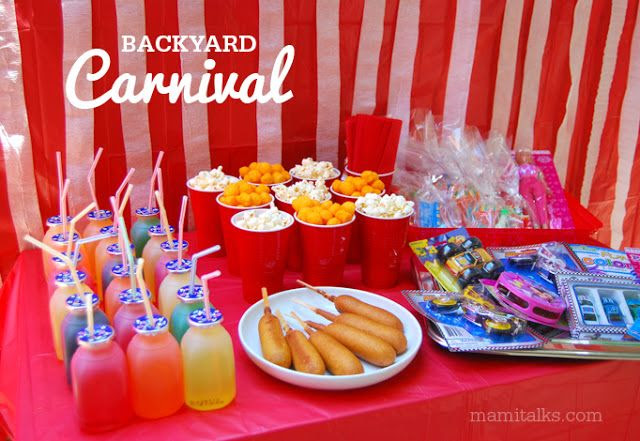 Back Yard Carnival Party Ideas