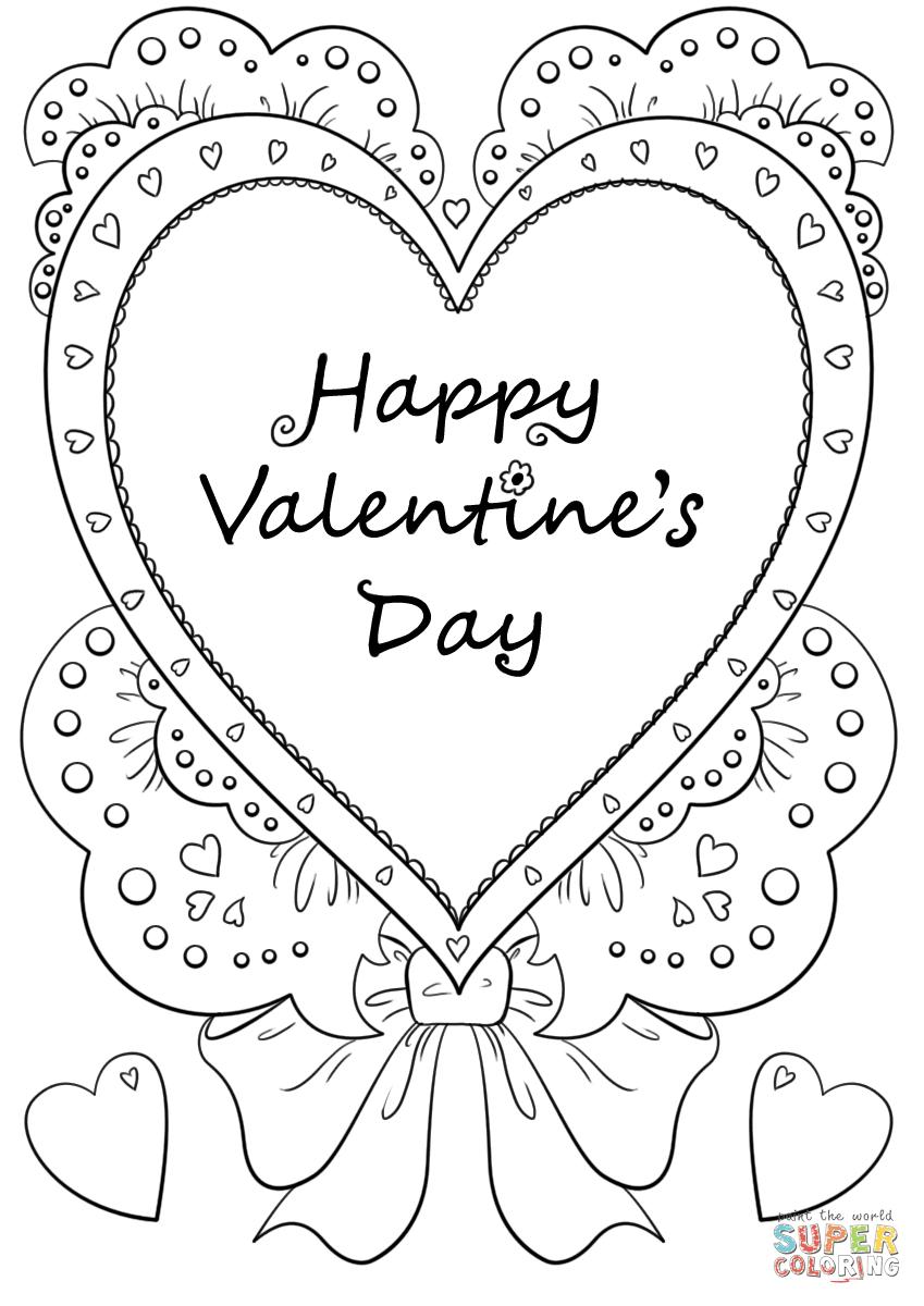 Dibujo De Feliz Día De San Valentín Para Colorear Dibujos Para