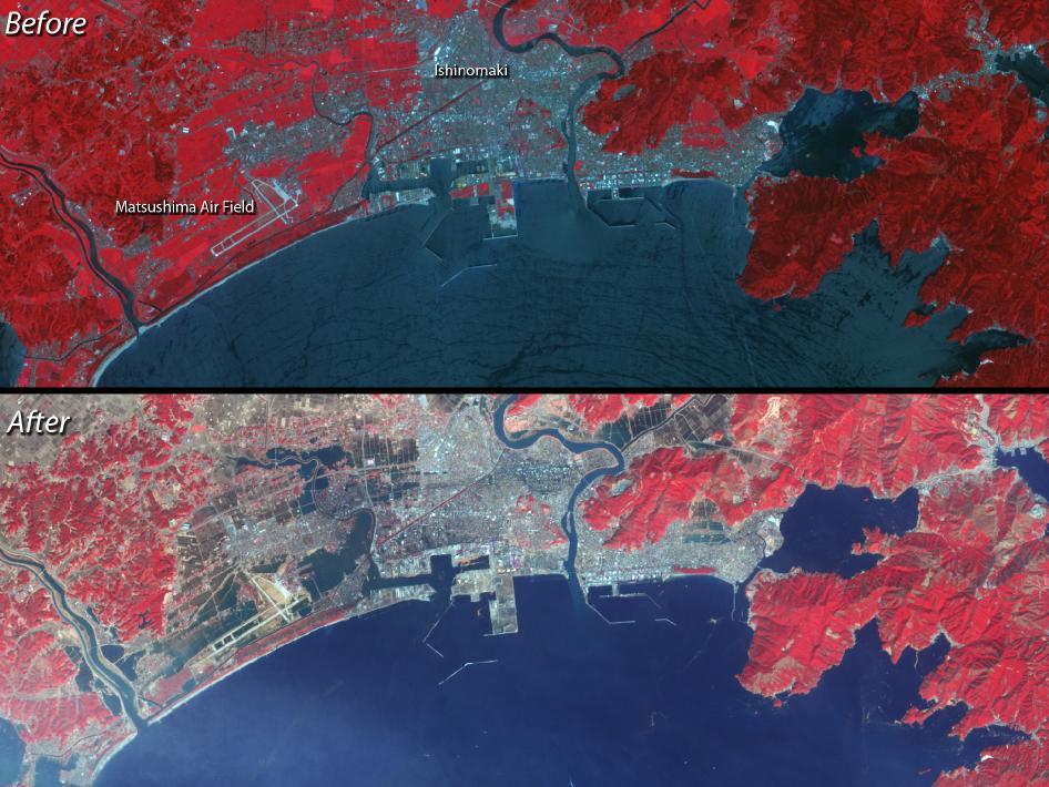 satellite images of Ishinomaki