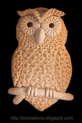 Baked Dough Owl