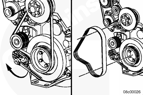 Cat C15 Serpentine Belt Diagram