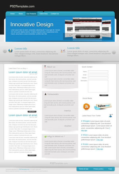 Company/Business/Software Web Layout